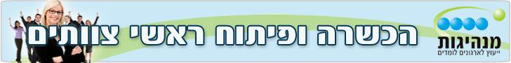 מכון מנהיגות -הכשרה ופיתוח ראשי צוותים